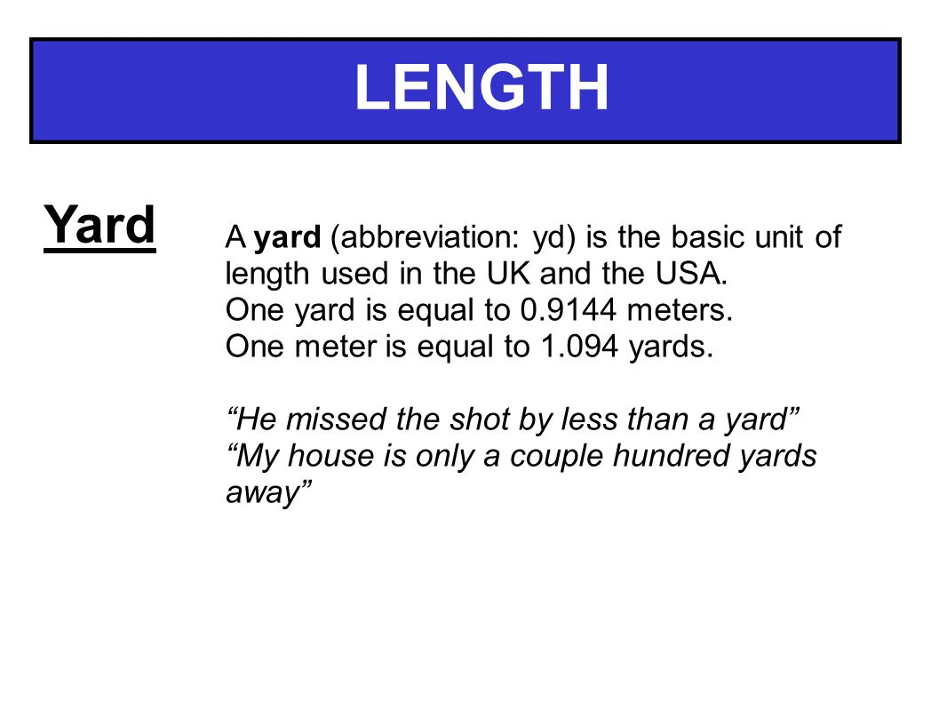 MEASURE UNITS LENGTH Mile LENGTH Mile Miles Are Often Used To - Length of usa in miles
