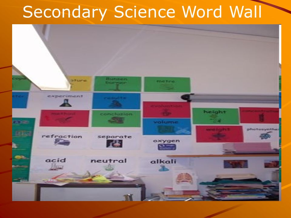 Secondary Science Word Wall