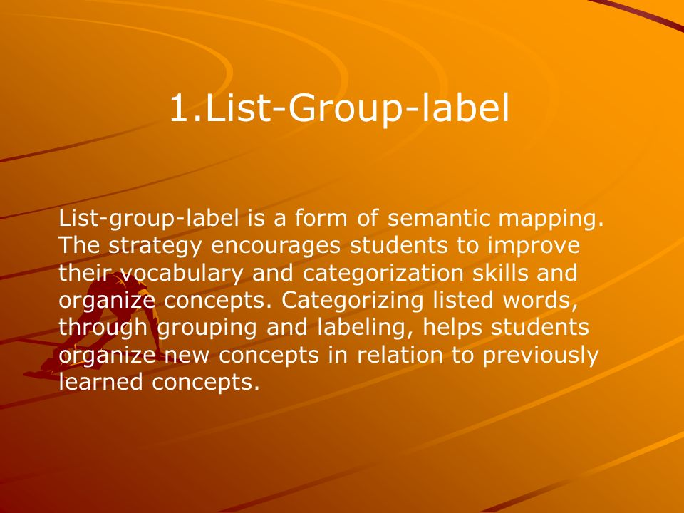 1.List-Group-label List-group-label is a form of semantic mapping.