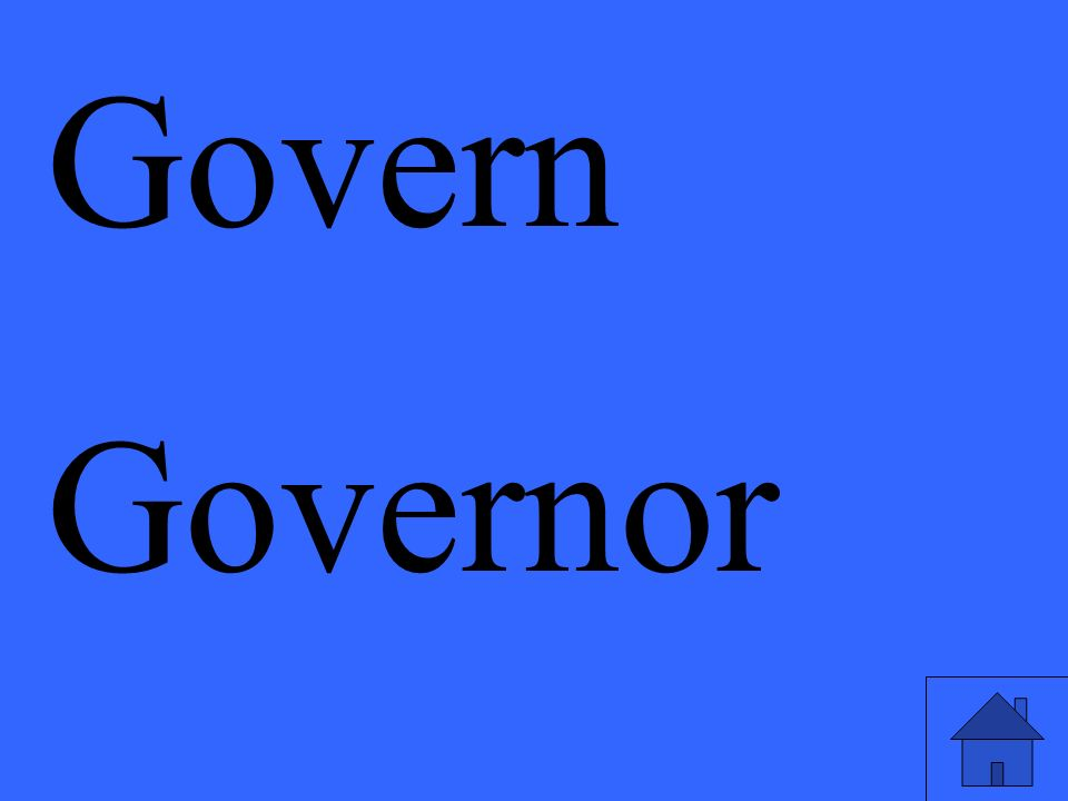 Govern Governor