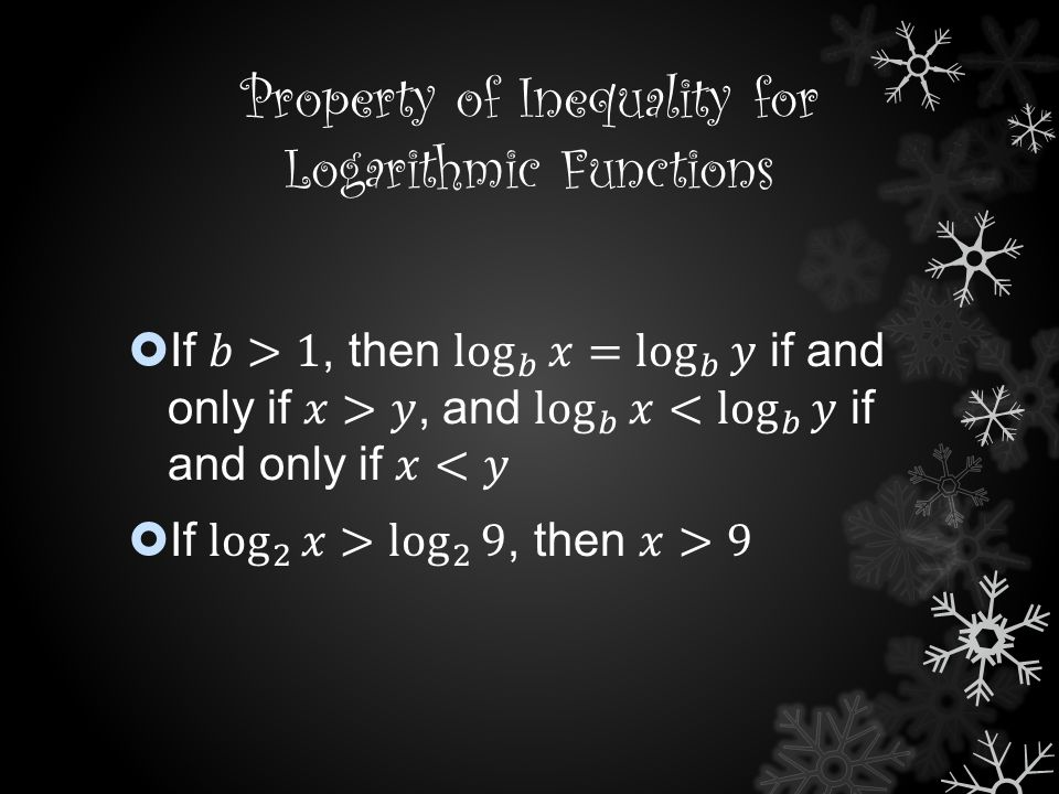 Property of Inequality for Logarithmic Functions