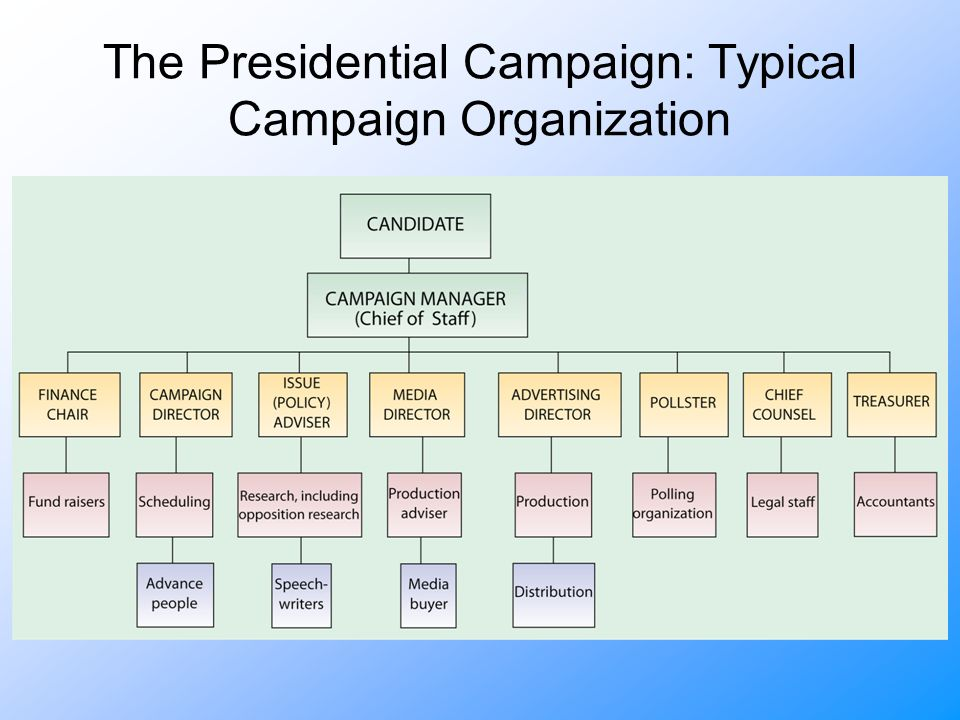 The Presidential Campaign: Typical Campaign Organization