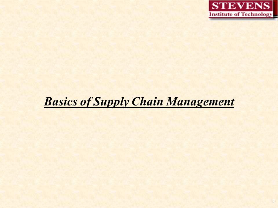 1 Basics of Supply Chain Management