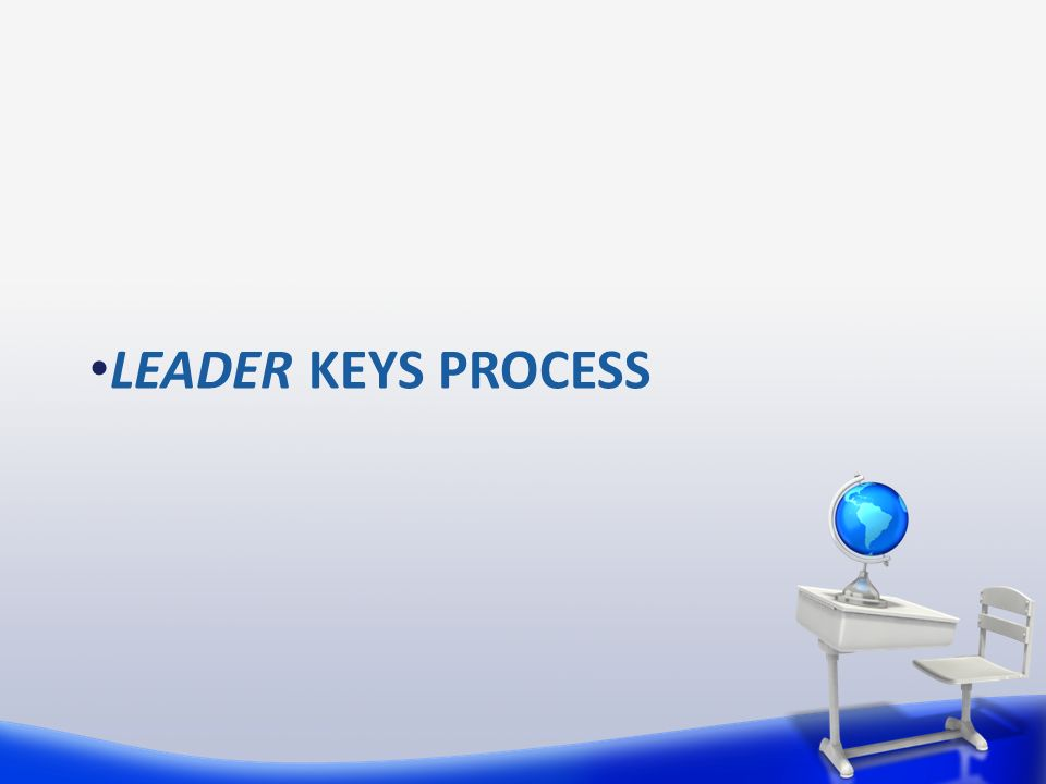 LEADER KEYS PROCESS