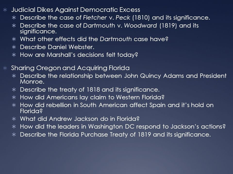  Judicial Dikes Against Democratic Excess  Describe the case of Fletcher v.