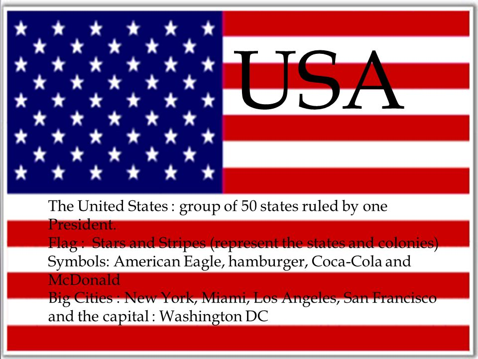 Usa The United States Group Of 50 States Ruled By One President
