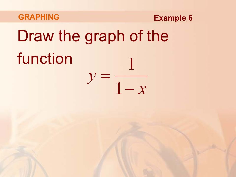 Draw the graph of the function GRAPHING Example 6