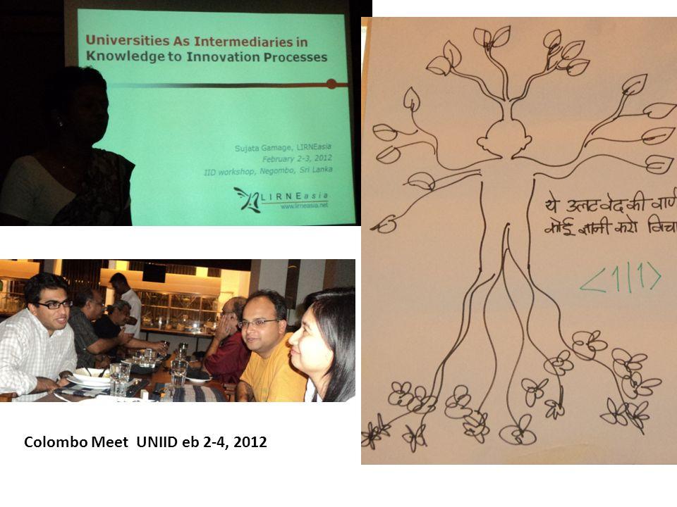Colombo Meet UNIID eb 2-4, 2012