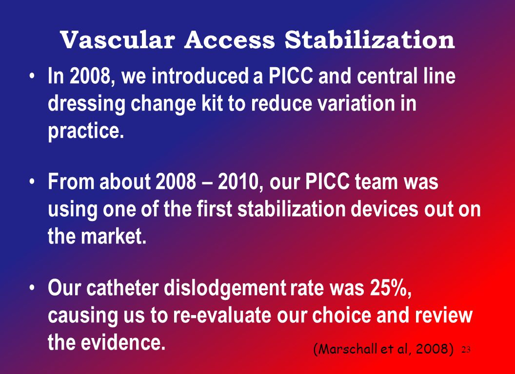 An evidence based approach to the maintenance bundle julie m vascular access stabilization in 2008 we introduced a picc and central line dressing change kit sciox Choice Image