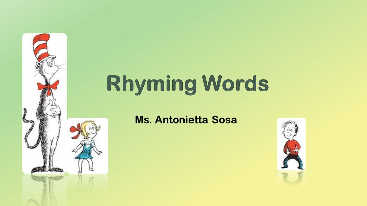 Worksheet Help Rhyming Words ms antonietta sosa reading dr seuss books help us to learn rhyming words