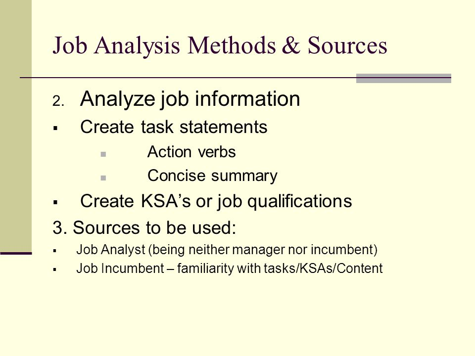 job task content analysis It is generally based on a job analysis and allows for the introduction of a new how to perform a job analysis - sample job description form this article is.