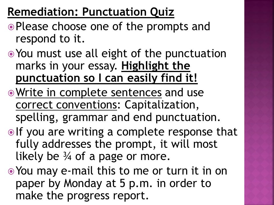 Is the punctuation correct in this essay?