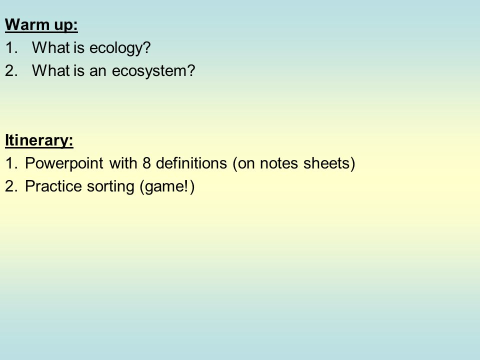 what is ecology powerpoint