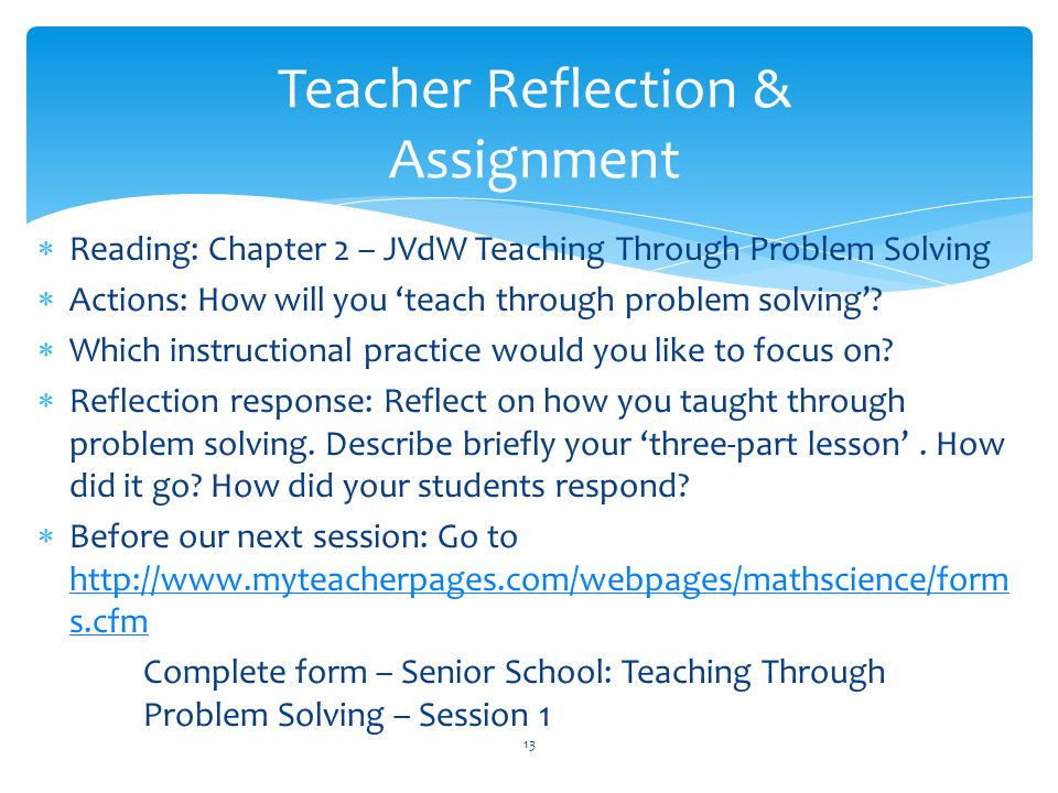 sped reflection assignment New special education teachers: challenges, insight, and support syllabus  course description  this course supports new special education teachers as they face the complex challenges of working in the classroom course participants will develop instructional skills and strategies to deal with behavior managemen.