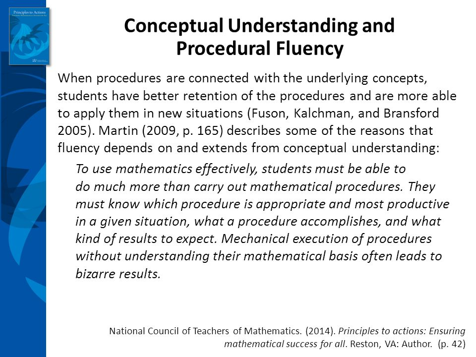 Principles to Actions Ensuring Mathematical Success for All