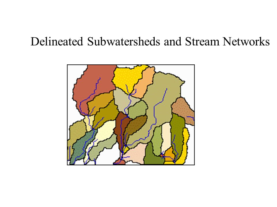 Delineated Subwatersheds and Stream Networks