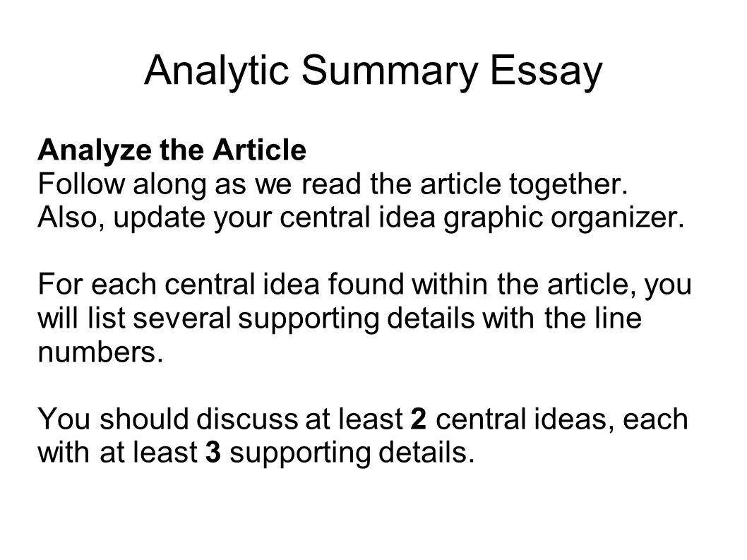 writing portfolio mr butner writing portfolio due date analytic summary essay analyze the article follow along as we the article together
