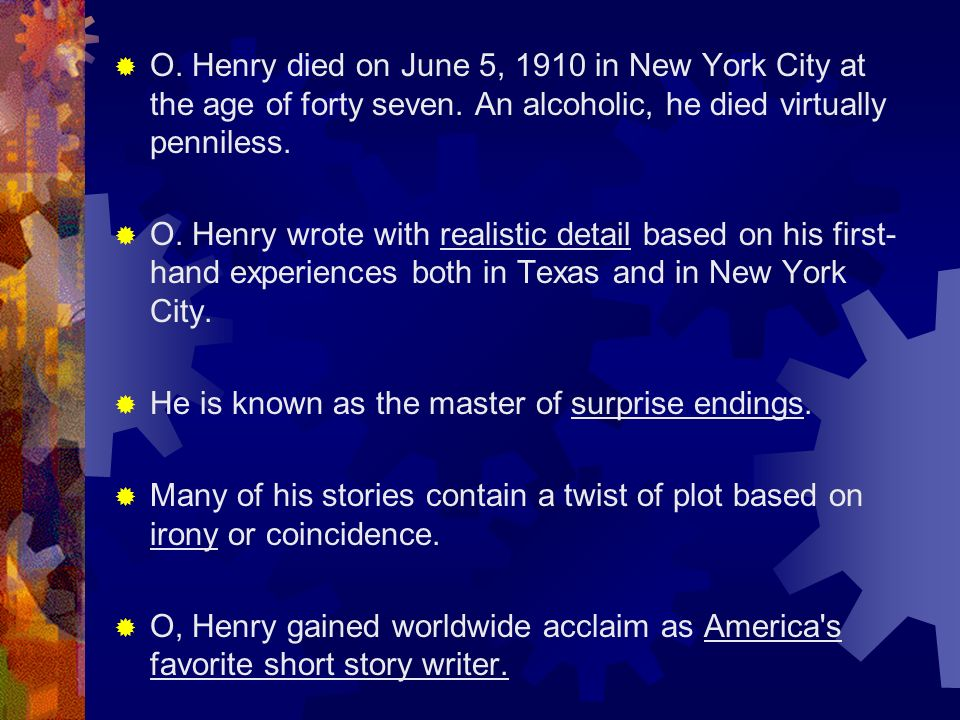 william sydney porter o henry facts about william sydney  5
