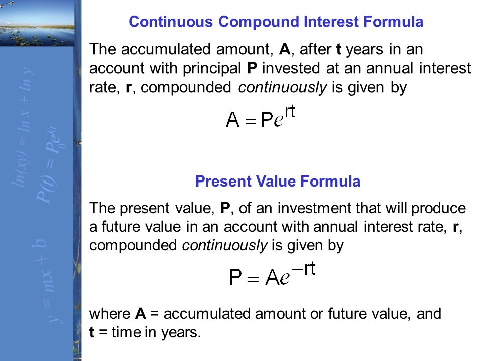 annual interest formula