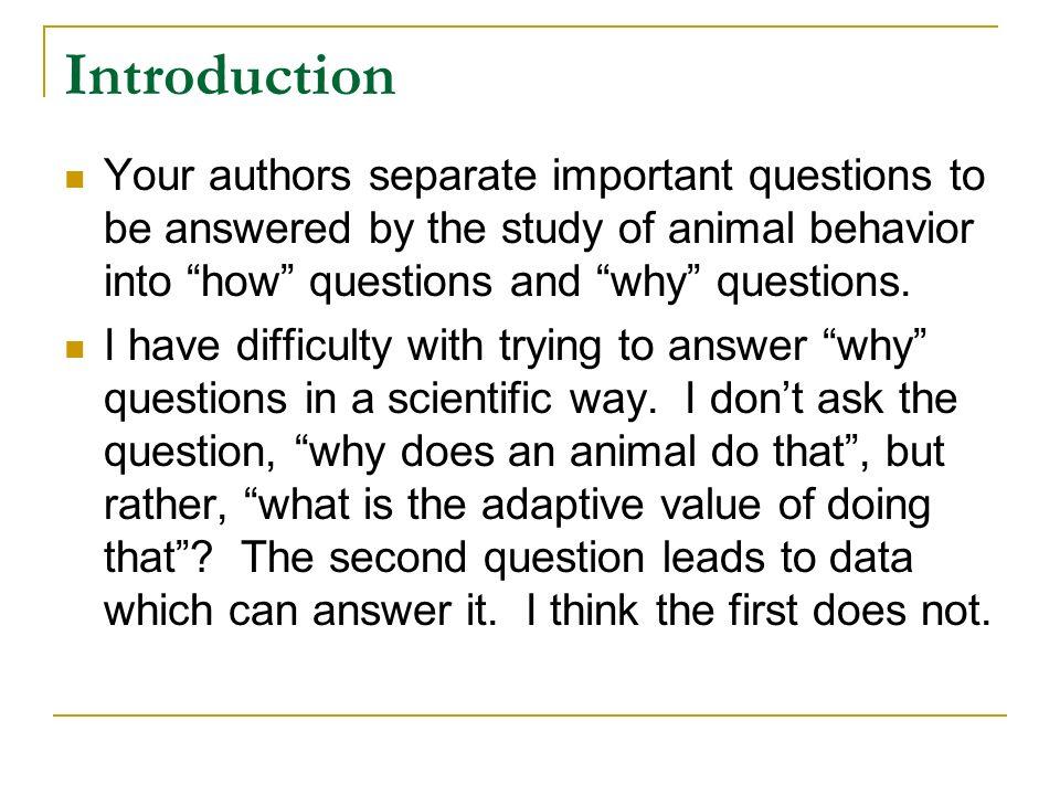 how can studies of animal behaviour