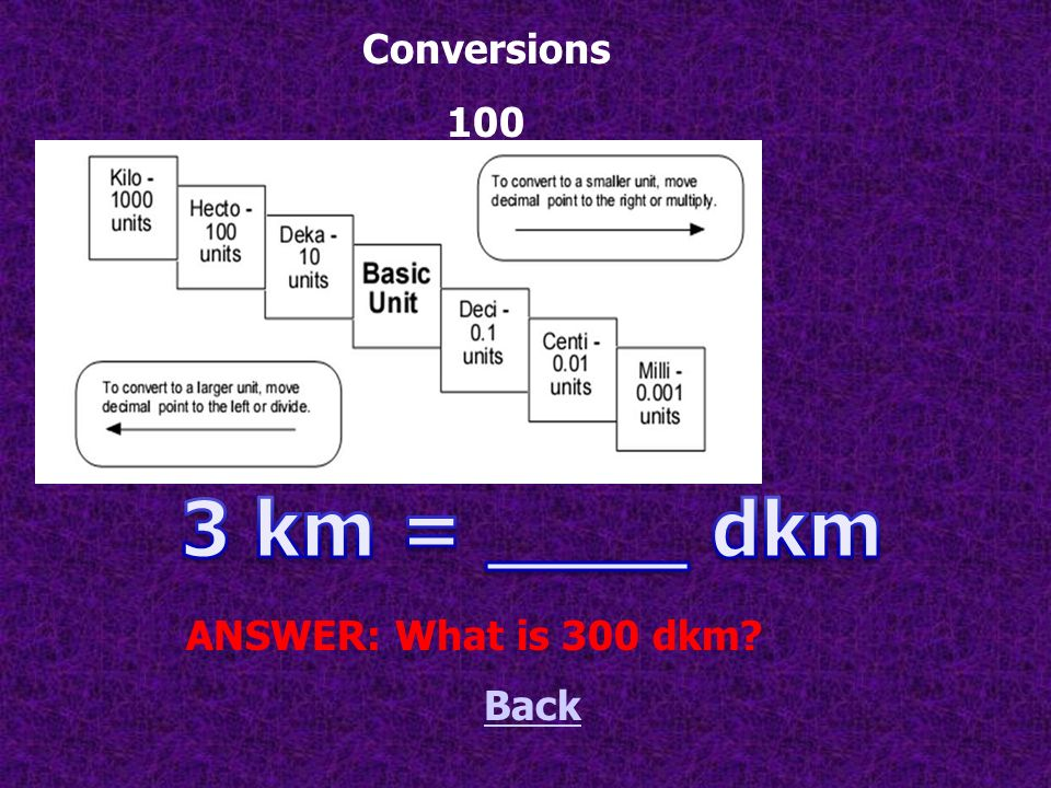 These are the two abbreviations for dekagram. Back ANSWER: What is dkg or dag Abbreviate this! 500