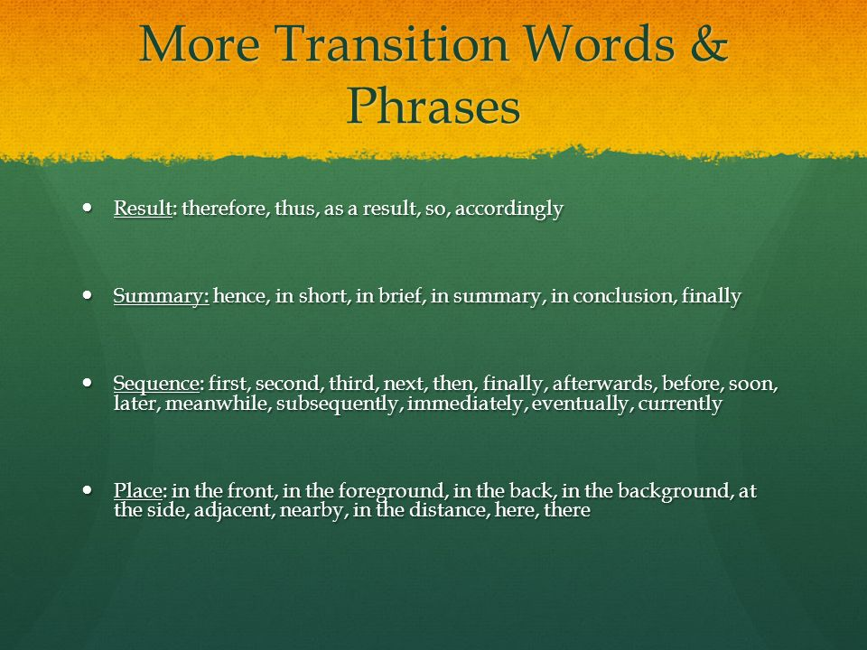 essay writing transitional phrases