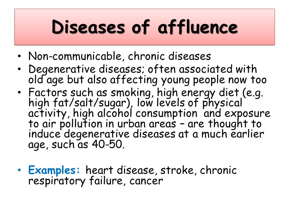 communicable and chronic diseases