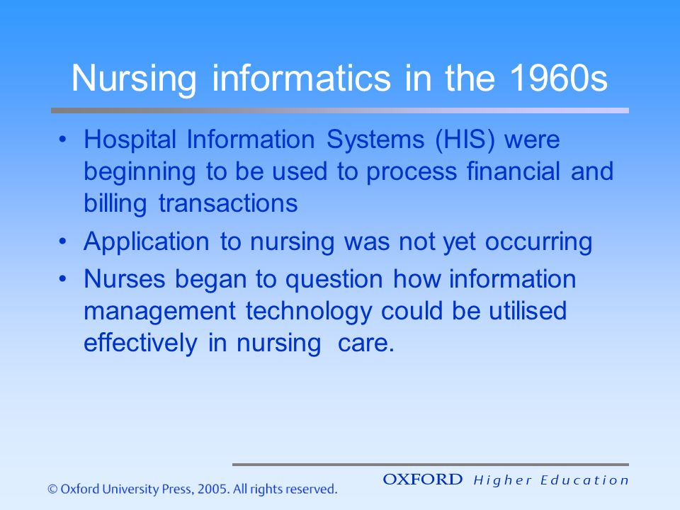 nursing informatics article review The impact of informatics on nursing education a review of the literature bonnie ainsley, ms, and abbie brown, phd abstract on the basis of a study by the institute.