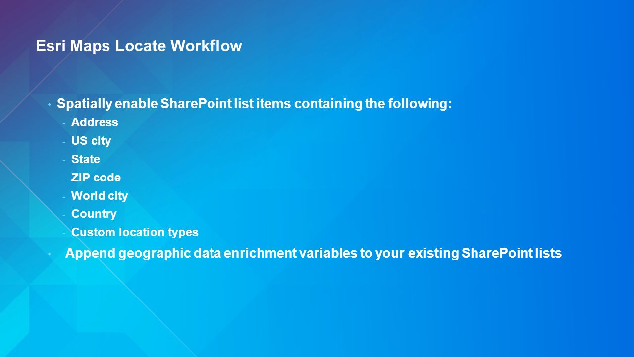 Esri Maps For SharePoint An Overview Dara Burlo  Elitsa Baklova - Us zip codes list by state