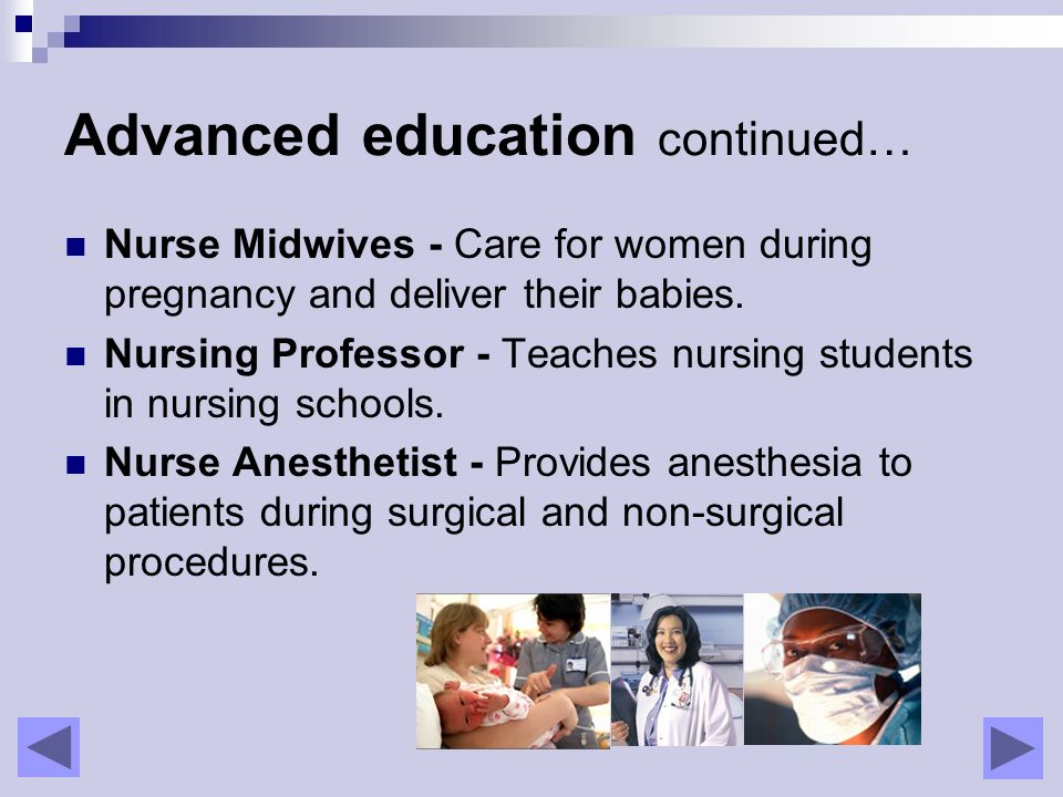 Careers In Nursing Click Arrows To Move Ahead Back Ppt Download