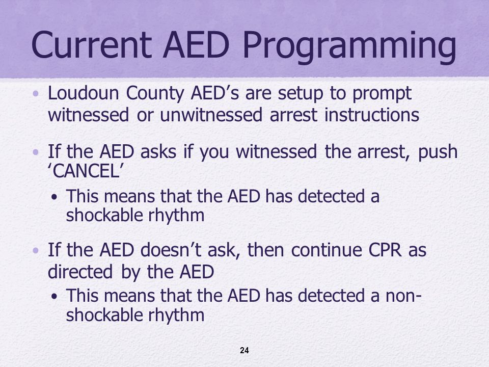 Loudoun County AED Program Rev. 11/ AED AED Teamwork* Integrity ...