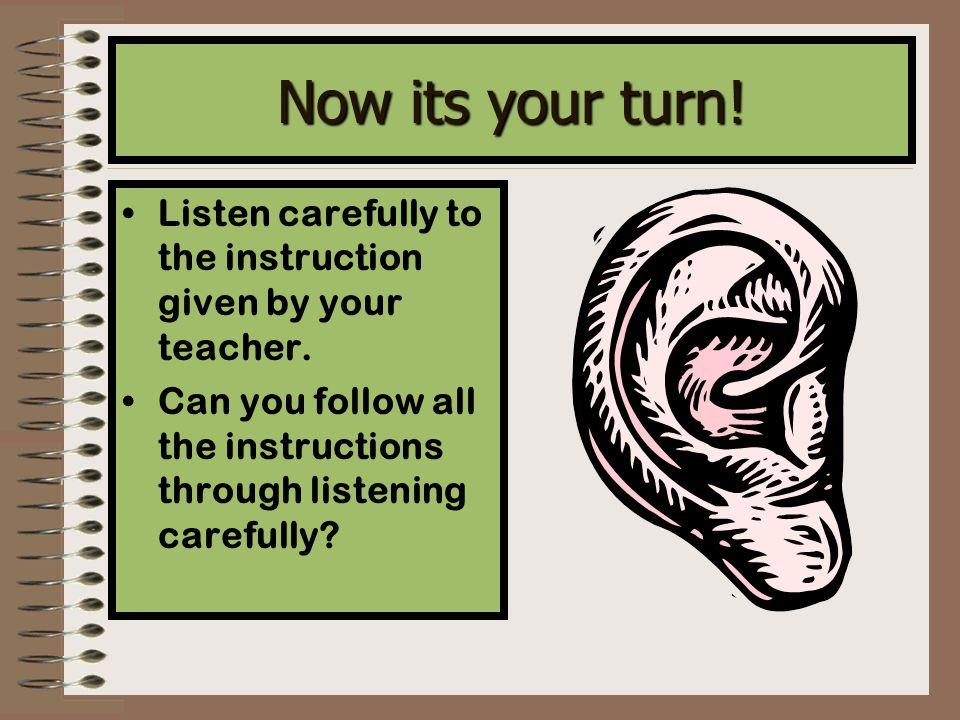 Instructions Explaining How