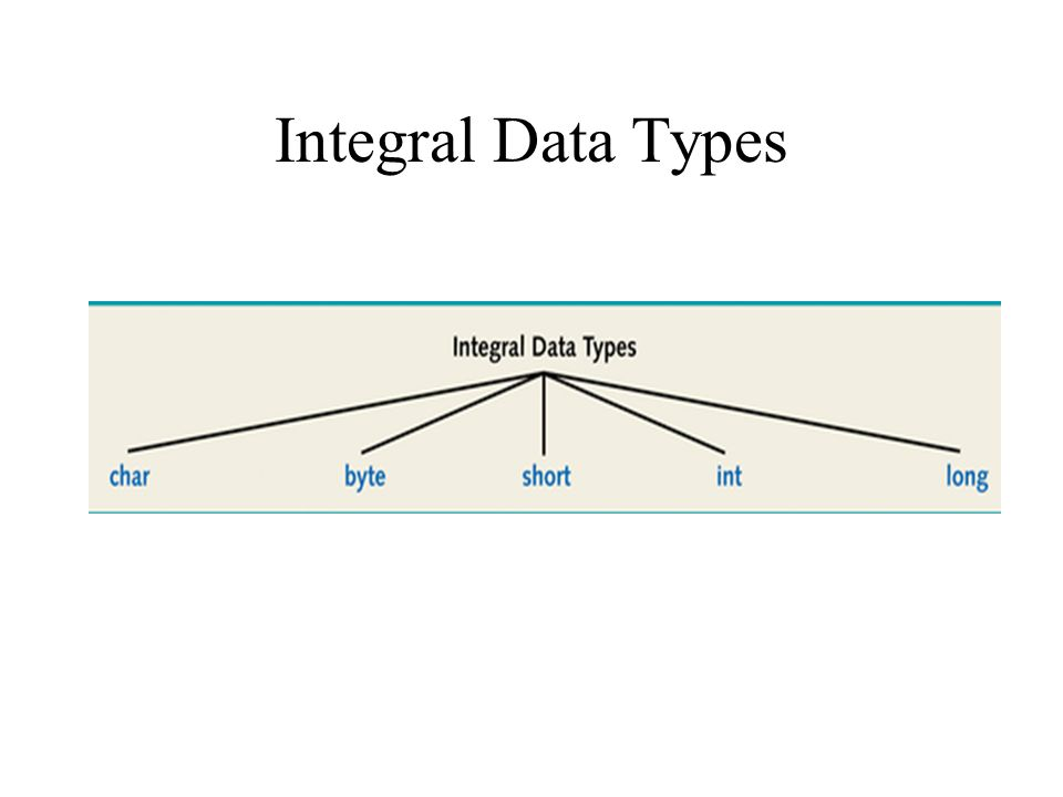 Integral Data Types