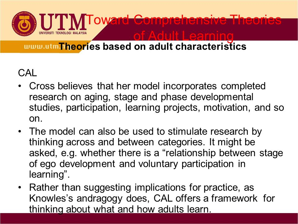 a study on developmental theories of learning