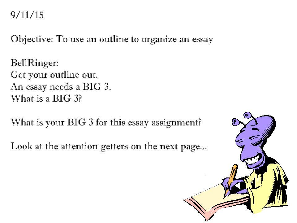 develop outline essay