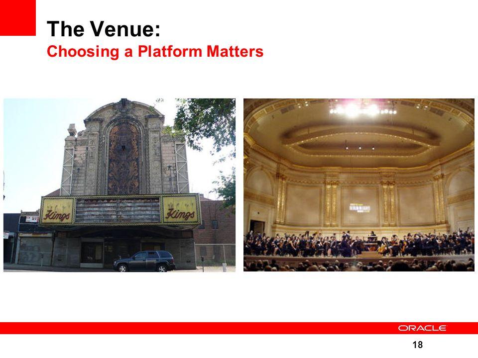 18 The Venue: Choosing a Platform Matters