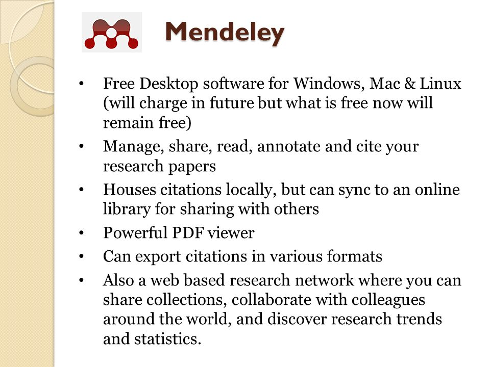 mendeley free  for windows 8