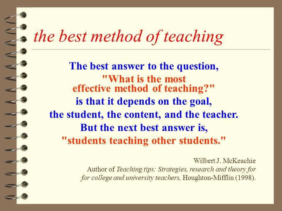 Question And Answer Teaching Method - Lawteched