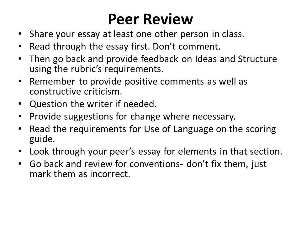 peer review questions argumentative essay