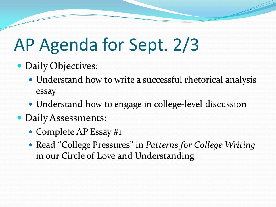 ap english language agenda for daily objective 6 ap