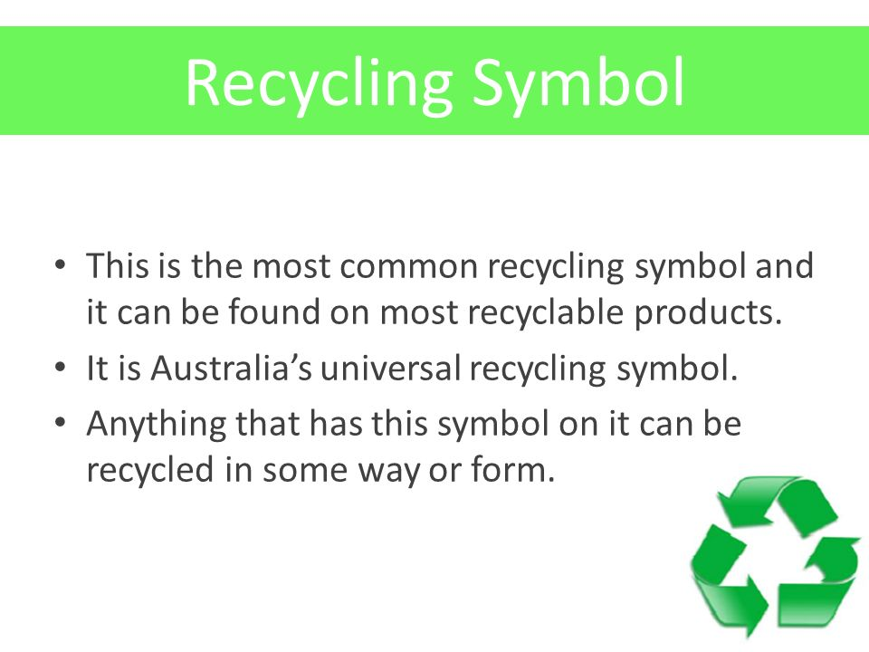 Recycling Lesson 7 Learning Objectives 1 Establish An