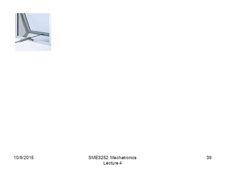 10/9/2015SME3252: Mechatronics Lecture 4 39
