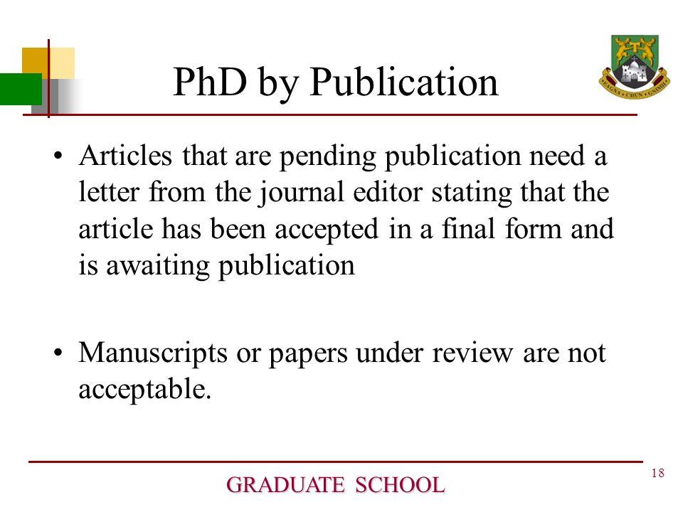 phd dissertation publication