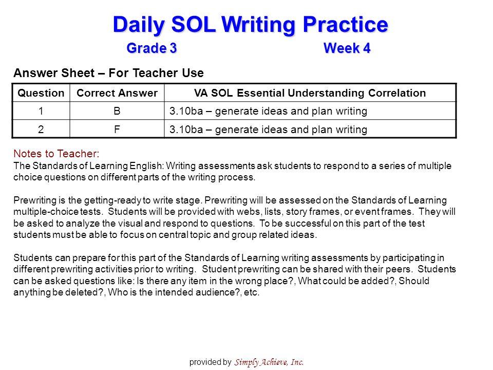english writing practice