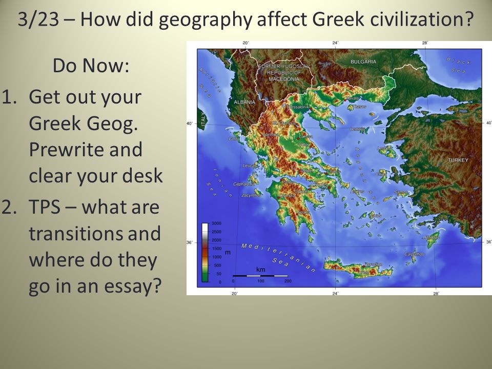 is the geography of similar to or different from  3 23 how did geography affect greek civilization