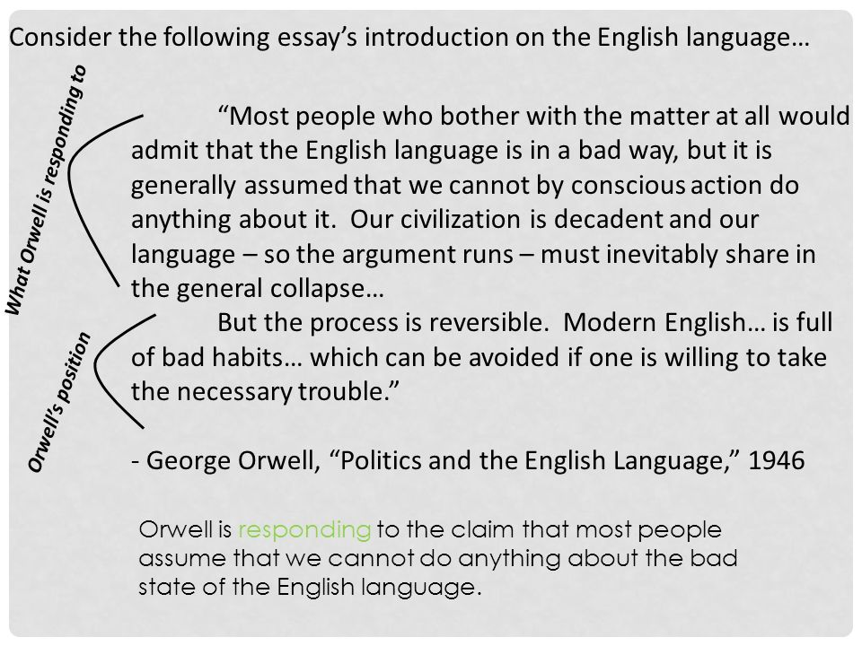 "titles as signals titles first sentences ""don t blame the eater  consider the following essay s introduction on the english language most people who bother the"