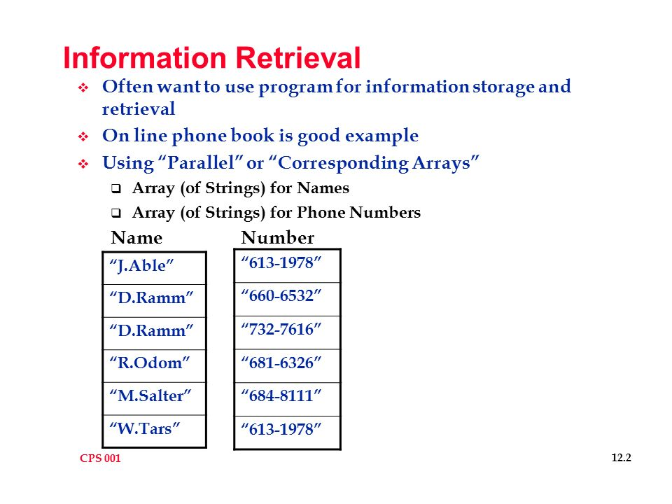 Cps TodayS Topics Java Information Retrieval Upcoming Database
