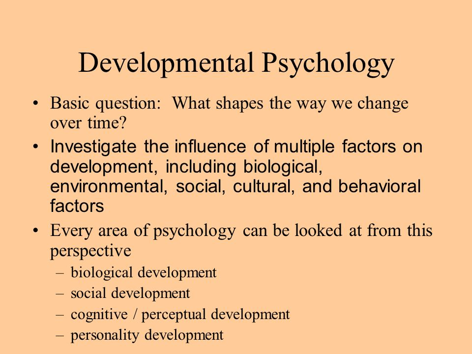 developmental psychology and personal development