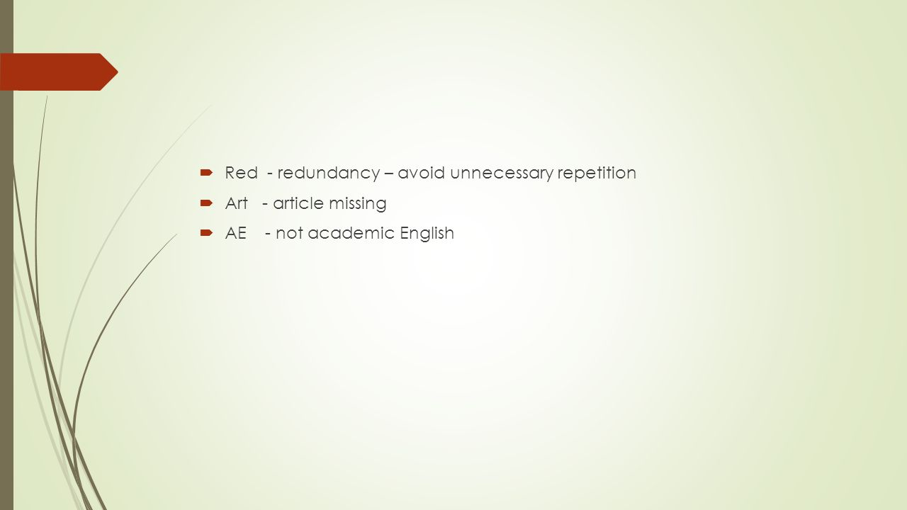 Correction symbols english 100 note for more detailed 5 red redundancy avoid unnecessary repetition art article missing ae not academic english biocorpaavc Image collections
