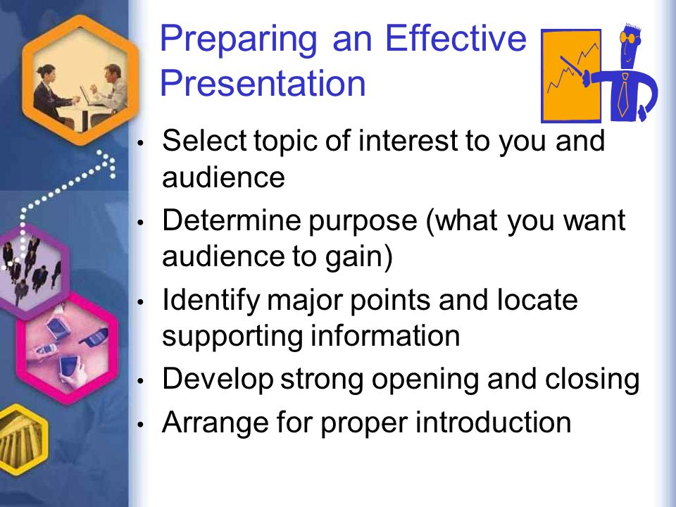 designing and delivering business presentations preparing an 2 preparing an effective presentation select topic